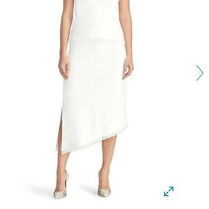 Rachel Roy ivory Pointelle Asymmetrical Knit Skirt